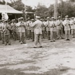 Political events: Military band from Puerto Plata performing in Sosúa
