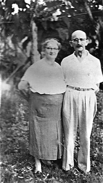 Moses and Margaretha outside their home