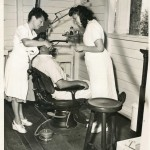 Sosua Dental clinic - Dr. Pauline Robitshek with a patient and nurse Olga Schlessinger