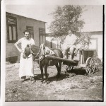 Hilde Schwarz and unknown with daily milk transport