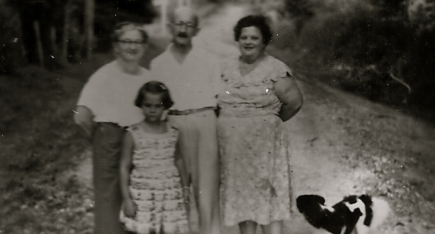 Moses and Margaretha with Hilde and Pupi Schwarz