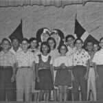 Front Row: Rene Kirchheimer, Peter Berman, Jeanette Ratz, Alma Kibel, Peter Papernik, Joe Benjamin. Back Row: Robert Kibel, unknown. Celina, Eridania and Maritza Llibre, Tommy Wohlmuth, unknown (2)