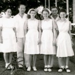 Hospital Staff l940s: Frau Mondschein, Dr Broch, unknown, Ruth Kahn, Erich Sygal, Ruth Arnoldi