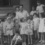 Mr Scheer and Judith Kibel with children