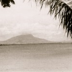 Isabel de Torres mountain across Sosúa Bay