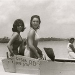 Unknown and Sonja Topf on a fishing boat