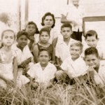 Front row: Miriam Arm, Abel, Gilad Neumann, Leo; Back row: Radhames Mercedes, unknown, Johnny Arm, Renchi Arm; Last row: Arisleyda Mercedes, Aura Wachsmann