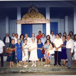 Sosúans in front of DORSA at an event organized by Tommy Phillips in the late 1980s