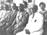 Puerto Plata Governor Ginebra, Military head and others with settler  Herzberg