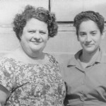 Settlers' friends: Hilde Schwarz with office employee
