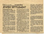 Jewish Settlement - Los Angeles Times