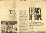 Exponent Newspaper - Legacy of Hope page 1