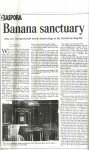 Banana Sanctuary - Diaspora newspaper 2001