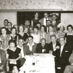 79  New York Sosua reunion. Front row: Horst Wagner, unknown(2), Walter Biller, unknown(4). Second row unknown(30, esther Papernik, Elsa Biller, unknown, Irma Codik, unknown(3) Third row and Fourth row all unknown