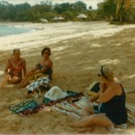69  Grete H Cohnen, Margo Labi, Esther Papernik at Sosua beach
