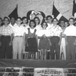 62  Independence day celebration at school. Front row: Rene Kirchheimer, Peter Berman, Janet Ratz, Alma Kibel, Peter Papernik. Joe Benjamin;  Back row:Tschupsi Kibel, Danilo Pla, Celina, Eridania and Maritza Llibre, Tommy Wohlmuth, Dolly Benjamin, unknown