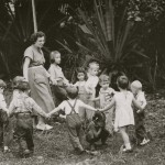 61  Irene Neuman with kindergarden children