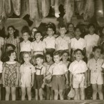 57  Kindergarden children at a school act