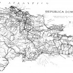 Dominican Republic map in the 1940s