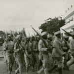 Soldiers marching