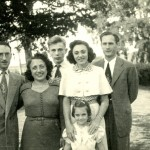 Heini, Dora and Henri Sontag, Susi and Eli Topf with daughter Sonja
