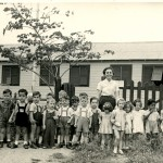 Kindergarden teacher with children