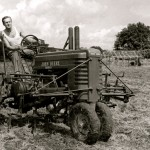 Henry Hurwitz on tractor