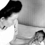 Nurse Ruth Arnoldi with baby Sonja Topf