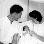 Eli and Susi Topf with baby Sonja in the Sosua hospital